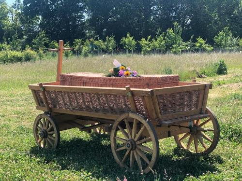 Funeral Coffin in Cart at Wildflower Meadow (6)-min