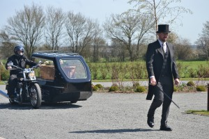 Motorcycle hearse 1